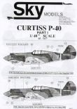 SKY48047  1/48 Curtiss P-40 decals (19)